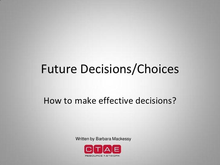 Decision Making Goals Presentation