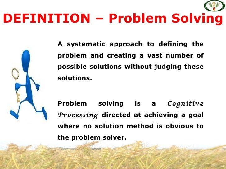 Meaning of problem solving skills