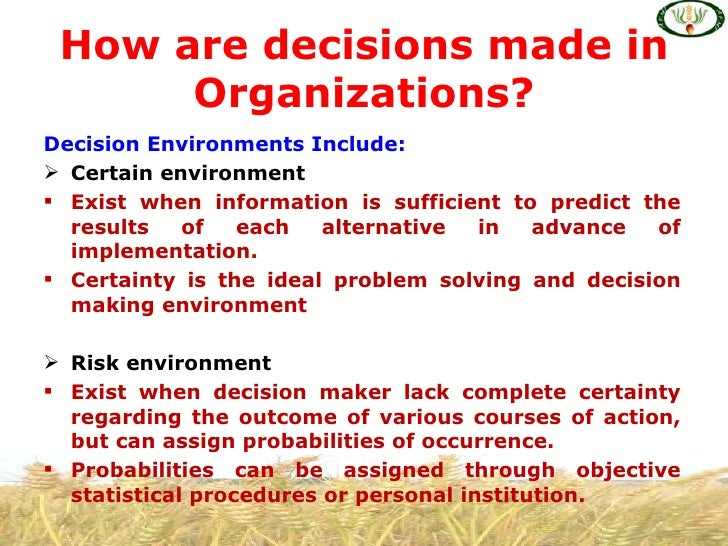 decision analysis 2 essay Decision theory essay elements of decision analysis although decision making under uncertainty occurs in a wide variety of contexts, all problems have three common elements: the set of decisions (or strategies) available to the decision maker, 2.