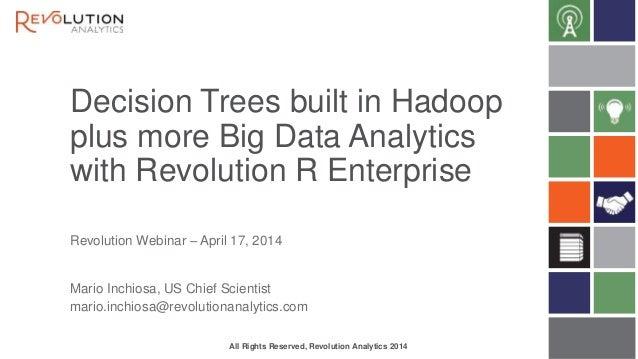 Decision trees in hadoop