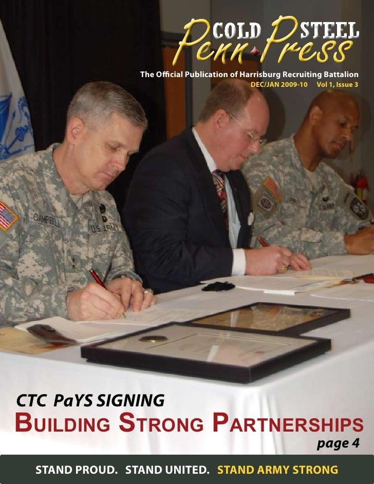 The Official Publication of Harrisburg Recruiting Battalion                                              DEC/JAN 2009-10  ...
