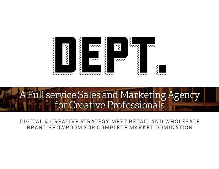 A Full service Sales and Marketing Agency         for Creative ProfessionalsDIGITA L & C RE ATI V E ST R AT E GY M E E T R...