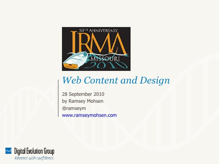 IRMA conference, Writing for the Web and Blogs