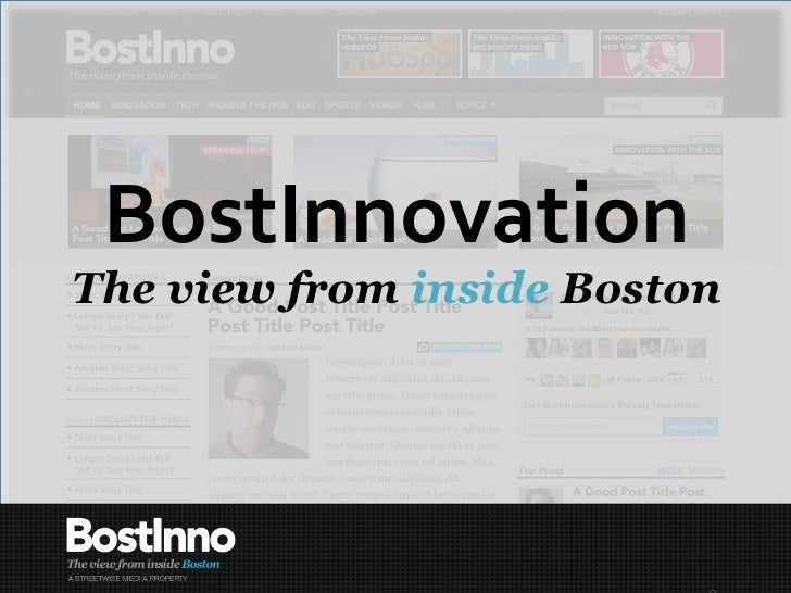 BostInnovation The view from  inside  Boston