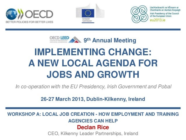 Declan Rice - Enterprise and employment: a local approach to global issues
