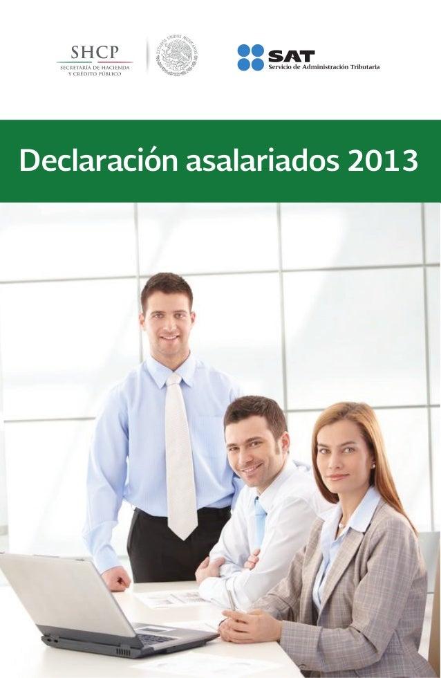 Declaración anual para asalariados 2013