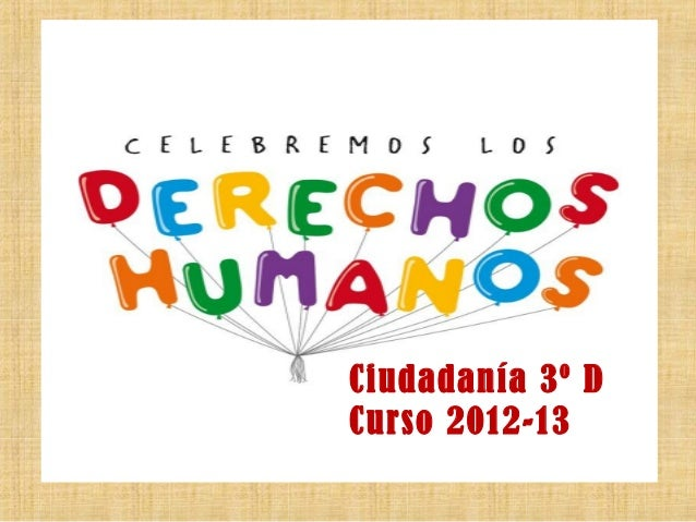 Ciudadanía 3º DCurso 2012-13