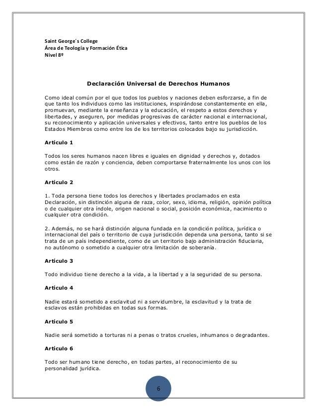 Declaracion ddhh pagina web
