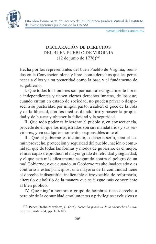 Declaracion de derechos del buen pueblo de virginia 1776
