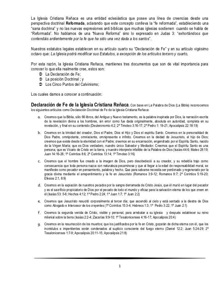 La Iglesia Cristiana Reñaca es una entidad eclesiástica que posee una línea de creencias desde unaperspectiva doctrinal Re...