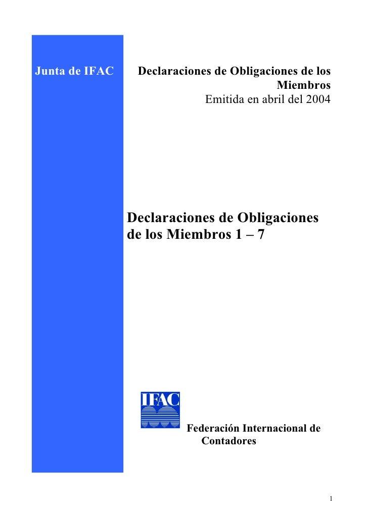 Junta de IFAC    Declaraciones de Obligaciones de los                                            Miembros                 ...