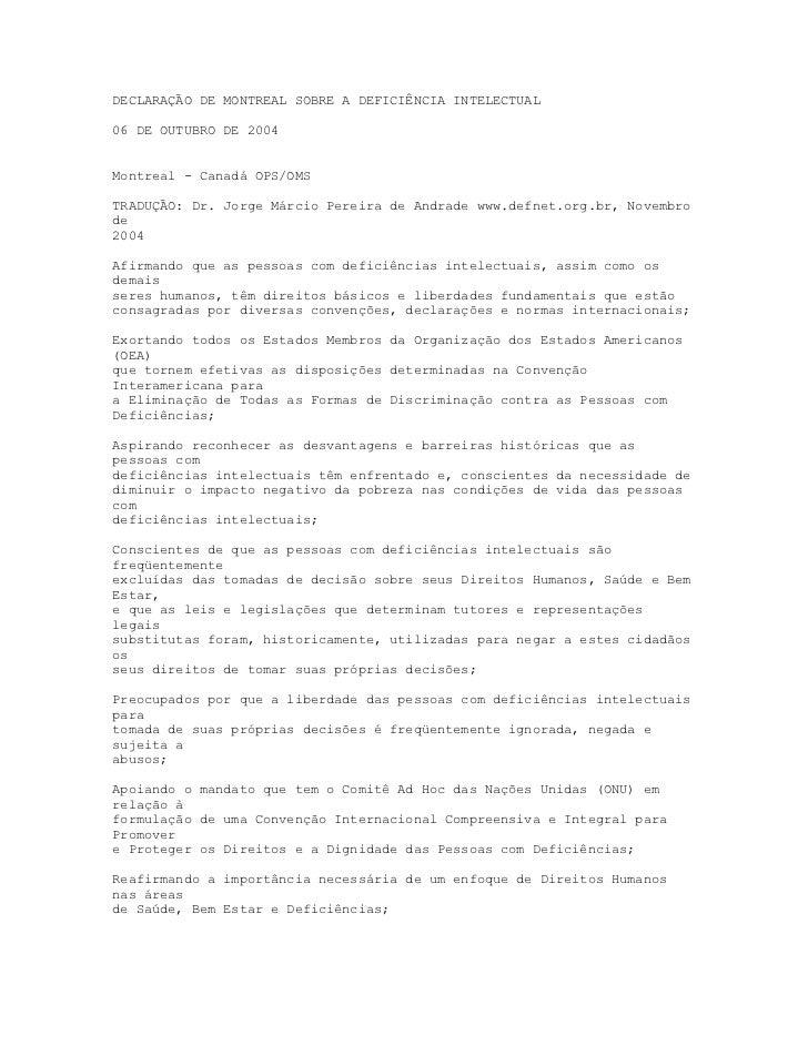 Declara€¦ção de montreal