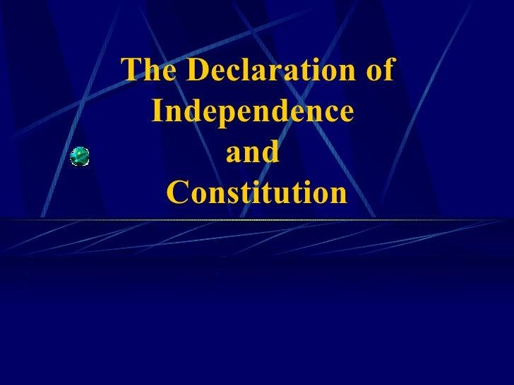 Declaration & constitution