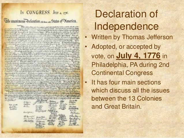 why the declaration of independence was The classic picture of the declaration of independence is a handwritten document made of calfskin but printing presses existed in 1776 — benjamin franklin was even.