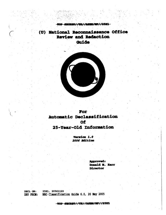 Top Secret National Reconnaissance Office declassification guideline