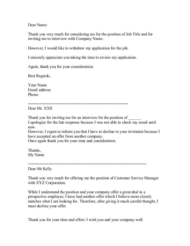 interview rejection email employment rejection letter template sample ...