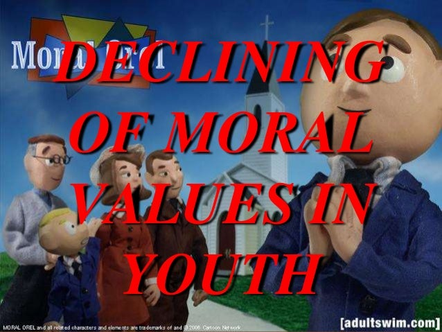 Essays on decline of moral values
