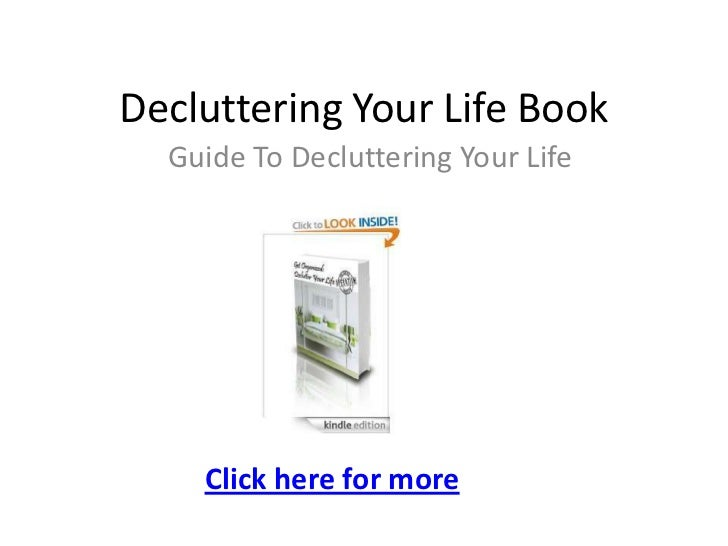 Decluttering your life book
