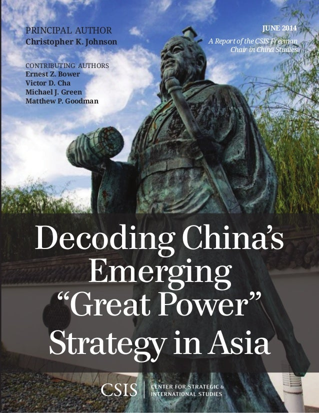 A Report of the CSIS Freeman Chair in China Studies JUNE 2014principal author Christopher K. Johnson contributing authors ...
