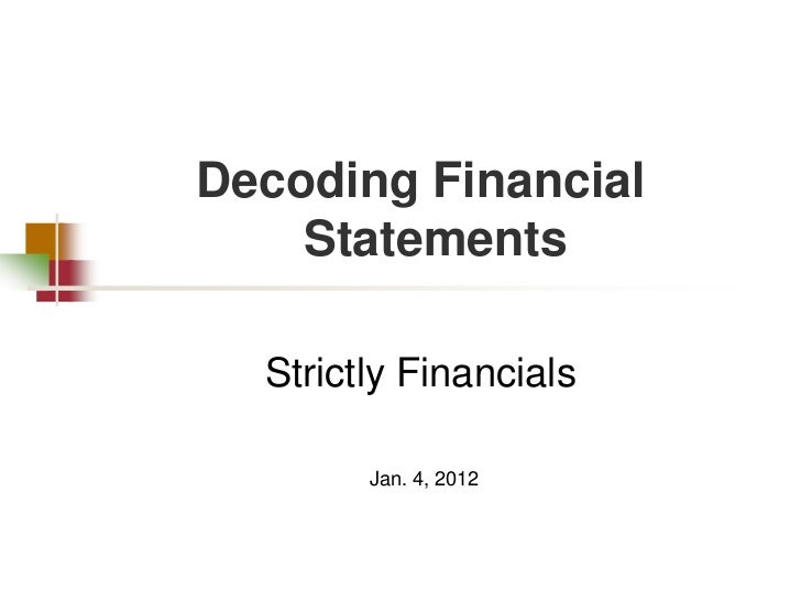 Decoding Financial Statements by Gary Trennepohl