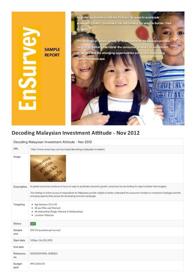 Decoding Malaysian Investment Attitude - Nov 2012
