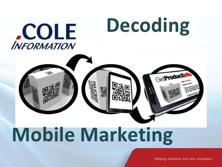 Decoding Mobile Marketing