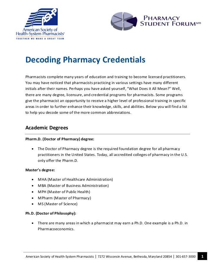 Decoding pharm credentials