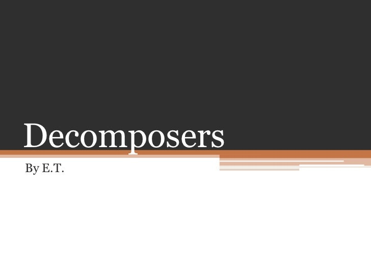 Decomposers<br />By E.T.<br />