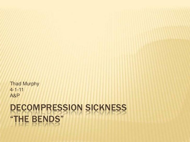 Decompression sicknessppt