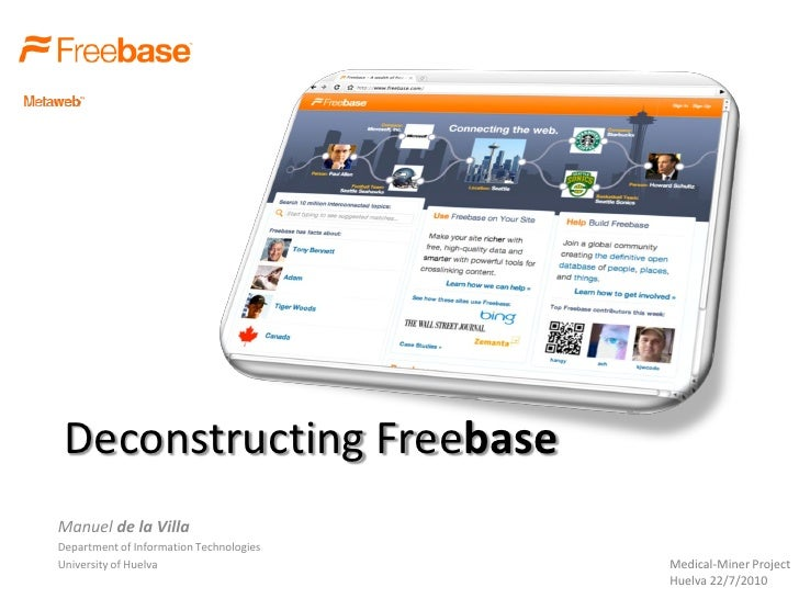 Deconstructing freebase
