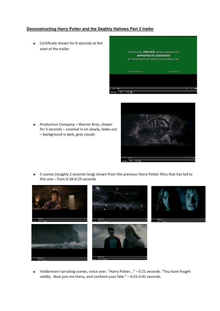 Deconstructing Harry Potter and the Deathly Hallows Part 2 trailer<br />28536901206500<br /><ul><li>Certificate shown for ...