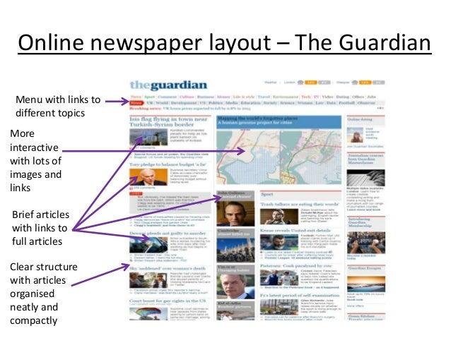 front page newspaper layout terms A powerpoint presentation allowing teachers to work through how a front page of a newspaper is laid out i usually print out slide one for students to label gs.