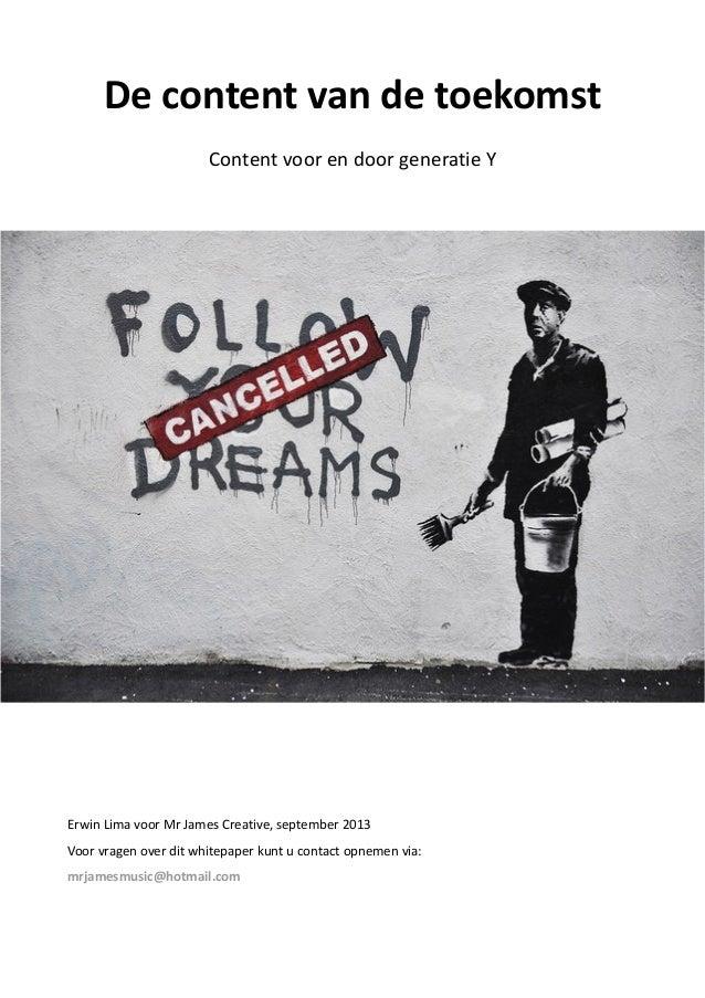 De content van de toekomst