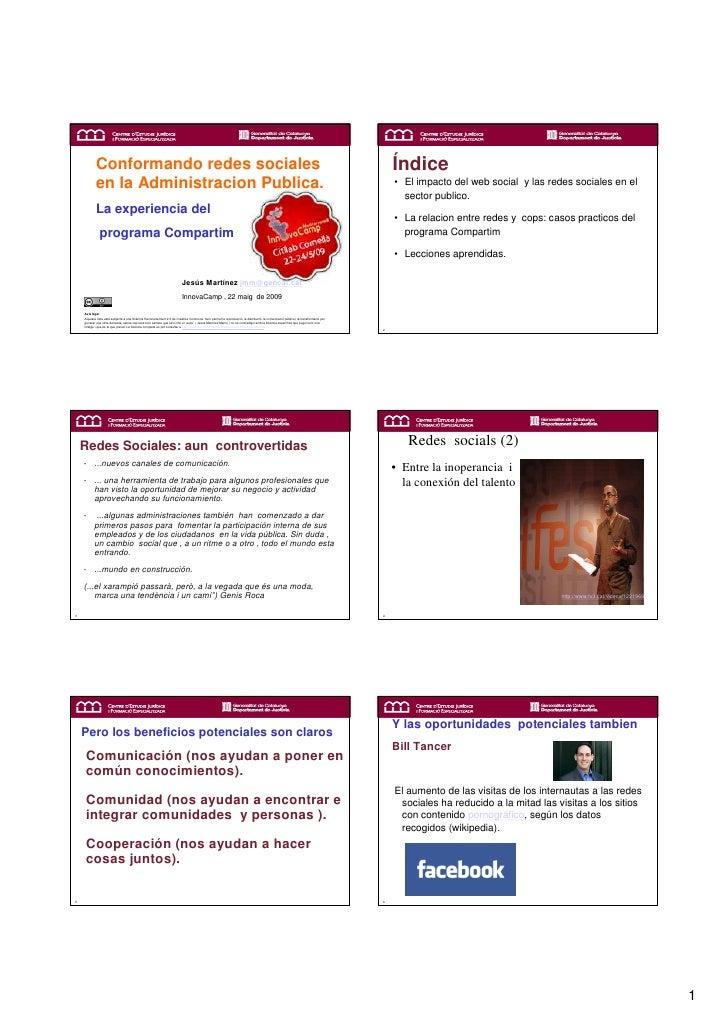 Creando redes sociales en la Adminstración