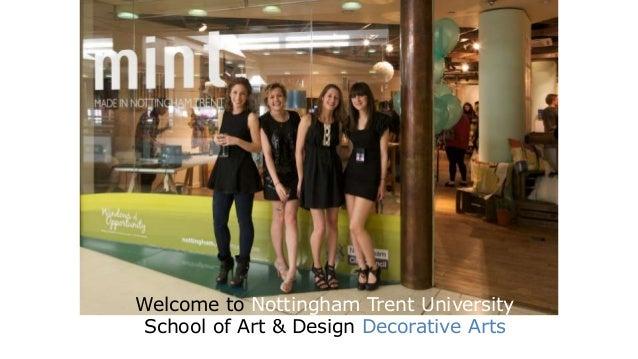 Welcome to Nottingham Trent University  School of Art & Design Decorative Arts