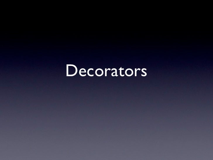 qooxdoo Decorators