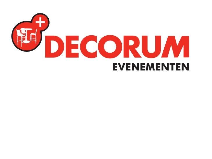 Presentatie over Decorum Evenementen