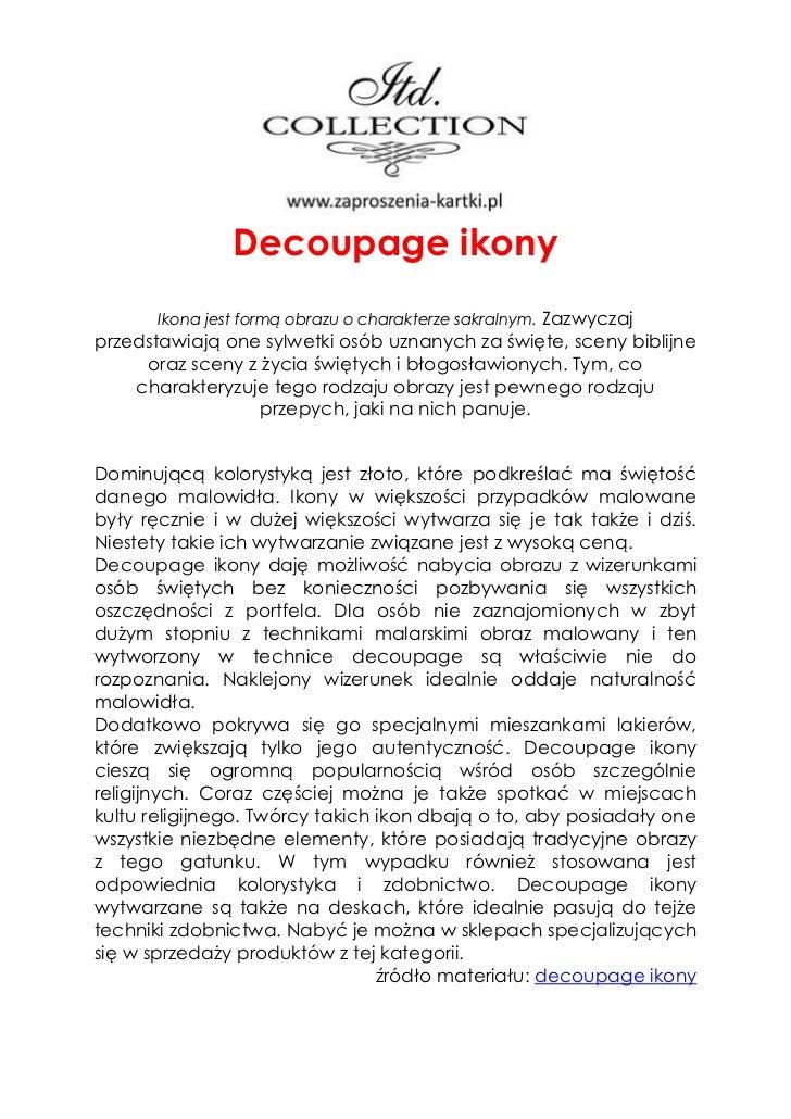 Decoupage ikony