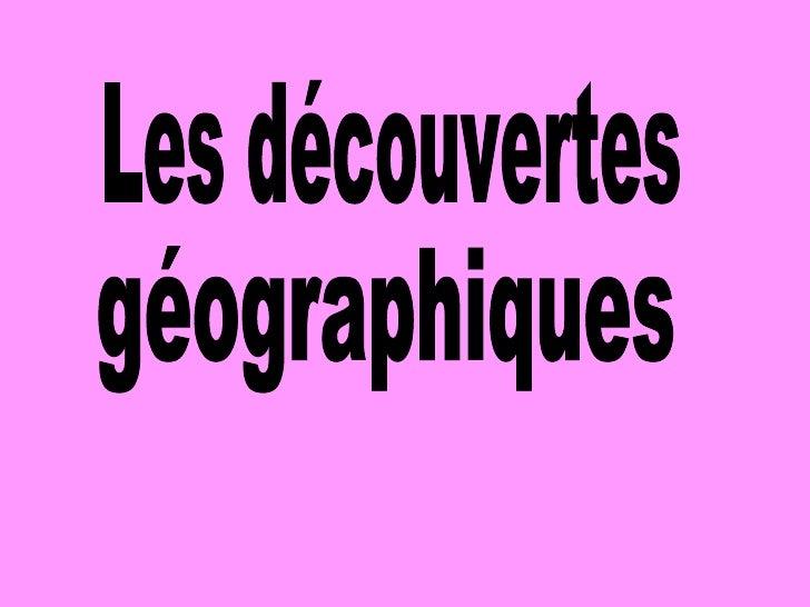 Decouvertes geographiques