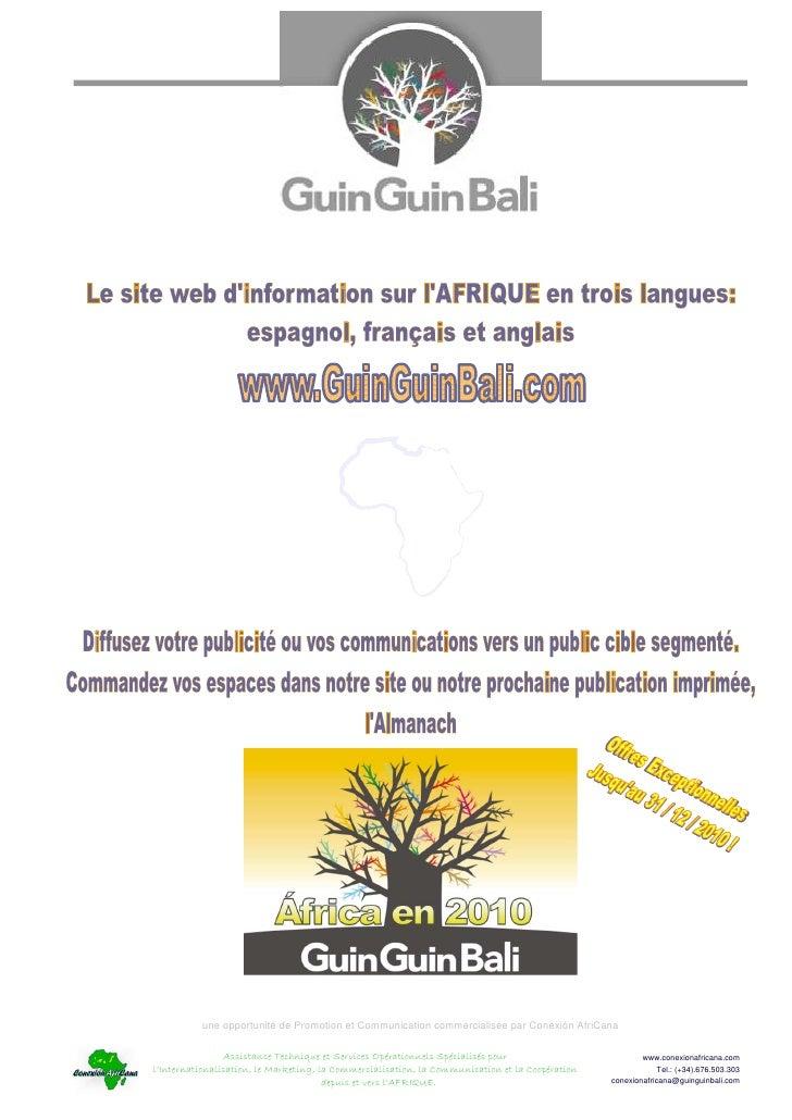 Decouvrez guinguinbali.com sur l AFRIQUE et ses publications imprimées