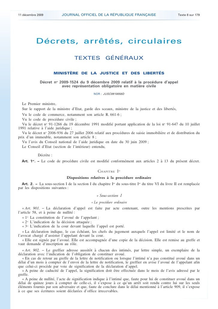 11 décembre 2009            JOURNAL OFFICIEL DE LA RÉPUBLIQUE FRANÇAISE                               Texte 8 sur 179     ...
