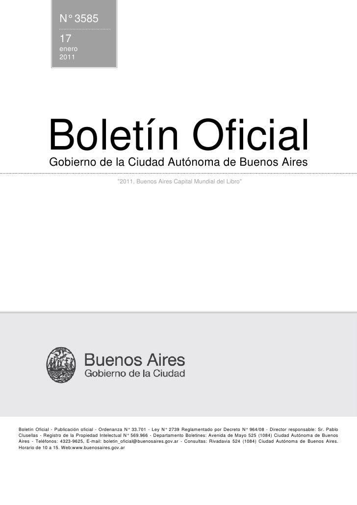 N° 3585                  17                  enero                  2011            Boletín Oficial             Gobierno d...