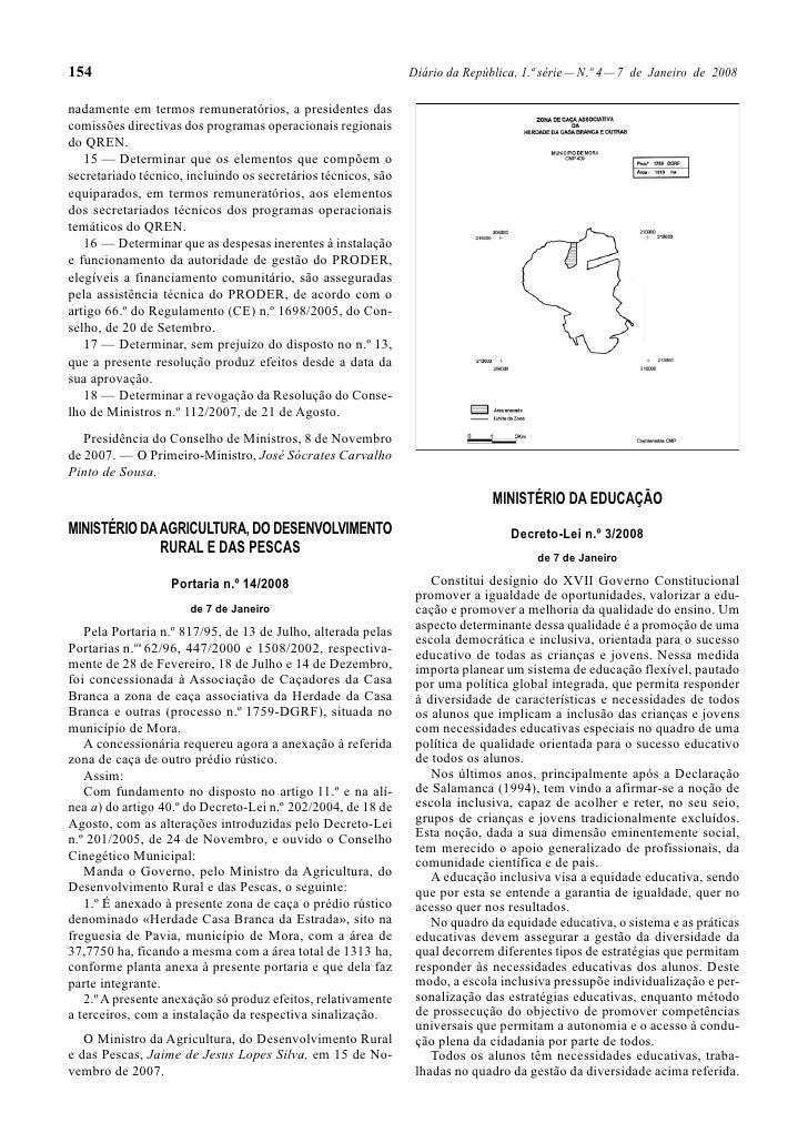 Decreto  Lei Nº 3 De 2008