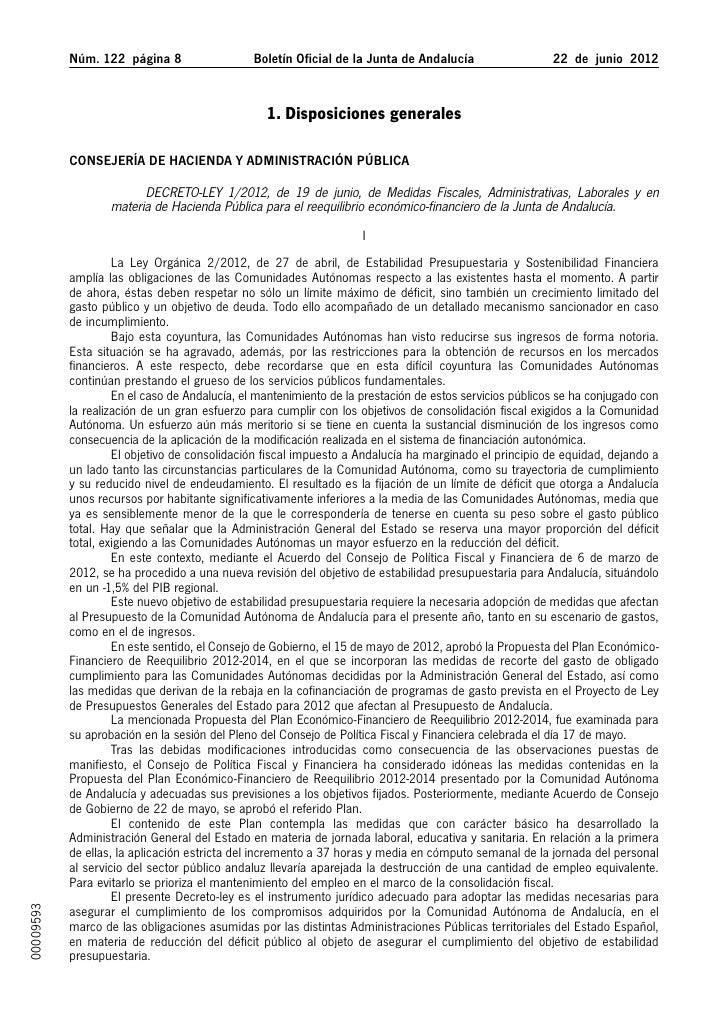 Núm. 122 página                  Boletín Oficial de la Junta de Andalucía                  22 de junio 2012           ...
