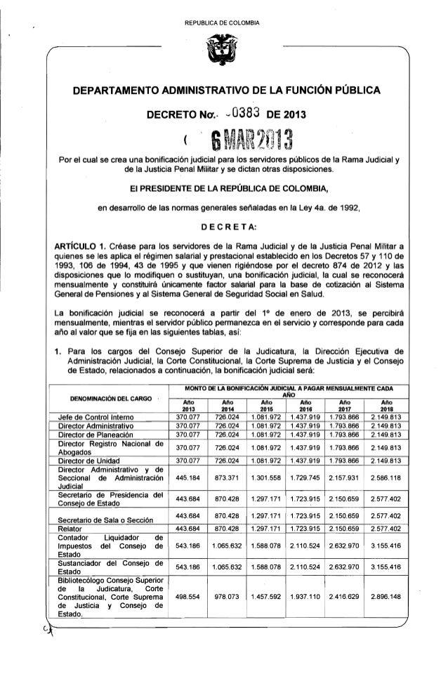 """REPUBLlCA DE COLOMBIA                                                   """"            DEPARTAMENTO ADMINISTRATIVO DE LA FUN..."""
