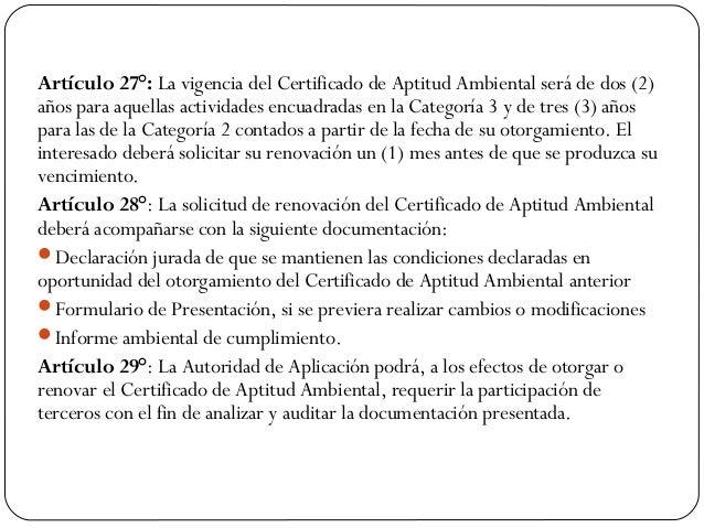 Certificado Aptitud Ambiental de Aptitud Ambiental Será