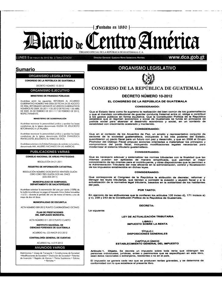 Decreto 10 2012 diario oficial