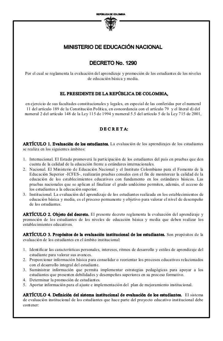 REPÚBLICA DECOLOMBIA                                                       I                        MINISTERIODEEDUCA...