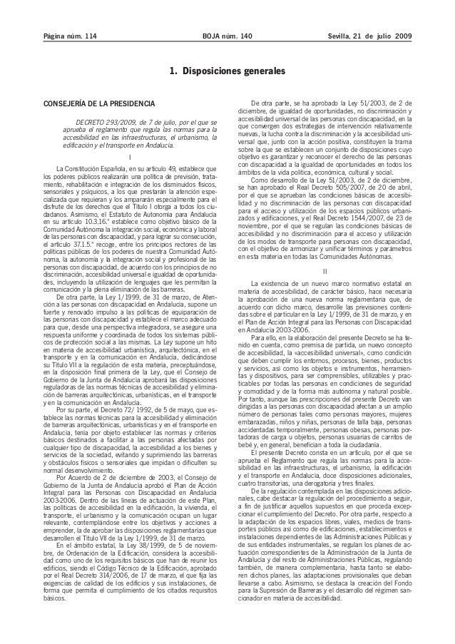 Decreto 2003 09 sobre accesibilidad. andalucía