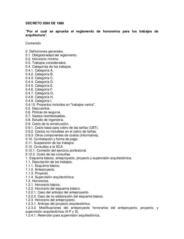 Decreto 2090 de 1989